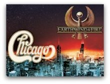 Chicago and Earth Wind and Fire tour in South Florida in March 2016