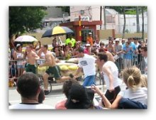 Coconut Grove Bed Races in Miami