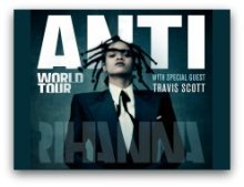 Rihanna Anti World tour in South Florida in March 2016