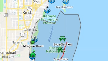 Biscayne Bay Park Map