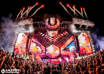 Stage at Ultra Music Festival in Miami