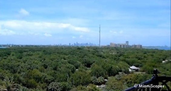 Views from the Lighthouse: Downtown Miami at the distance