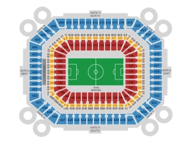 Hard Rock Stadium seating chart for Soccer Games