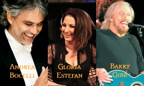 Andrea Bocelli, Gloria Estefan, Barry Gibb in a FREE concert for Miami Beach Centennial