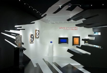 Galerie Gmurzynska Art Basel, Miami, wall and booth graphics designed by Zaha Hadid Architects