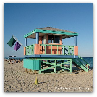 Art Deco Lifeguard Tower at 14th Street