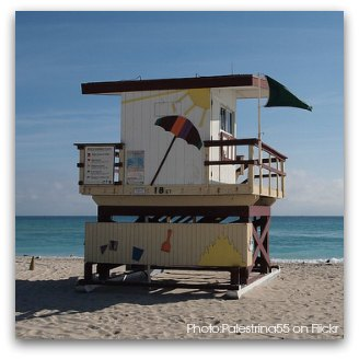 Art Deco Lifeguard Tower at 18th Street