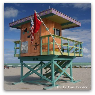 Art Deco Lifeguard Tower at 29th Street