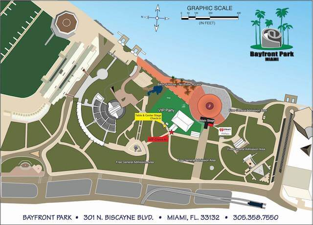 Bayfront Park Map