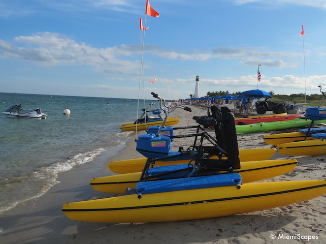 Watersports rentals at Bill Baggs Beach