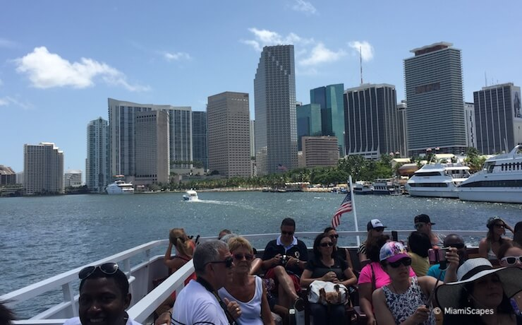 From Biscayne Bay Cruise: Miami Skyline