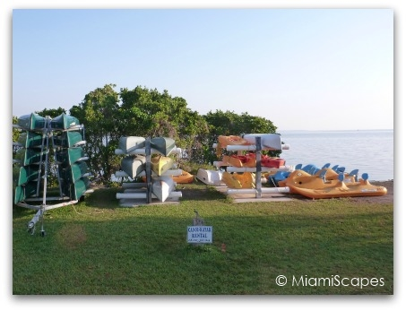 Canoe and Kayak concessions at Biscayne National Park Visitor Center