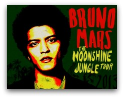 Bruno Mars in concert in Miami