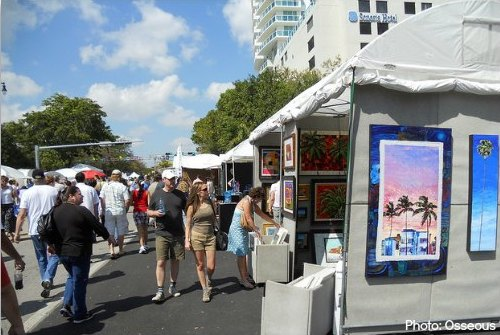 Coconut Grove Arts Festival Art Tents
