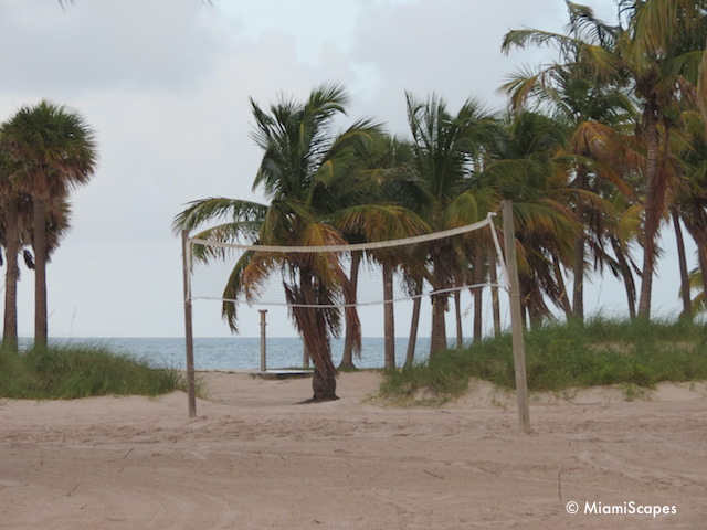 Volleyball nets at Crandon Park