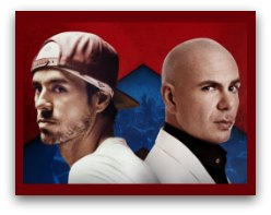 Enrique Iglesias and Pitbull in Miami
