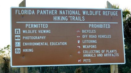 Visiting the  Florida Panther National Wildlife Refuge