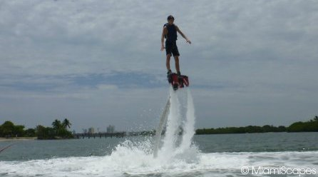 Flyboarding at Oleta Beach