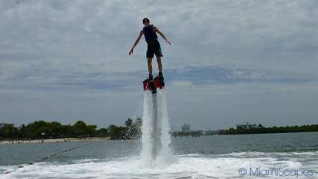 Flyboarding at Oleta River State Park in Miami