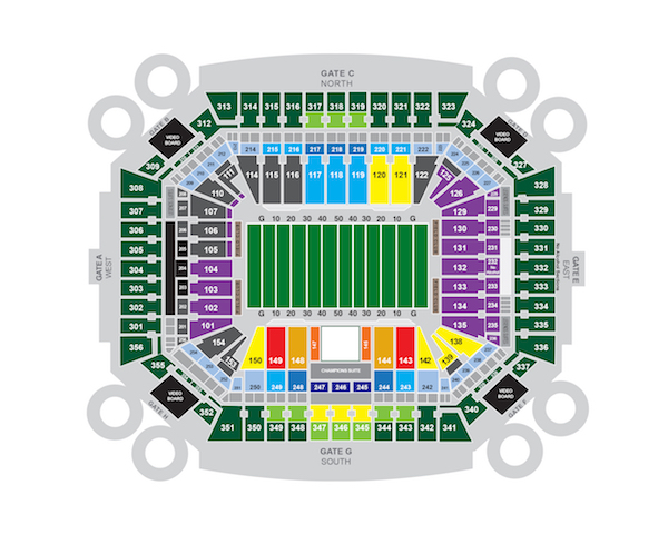 Hard Rock Stadium Seating Chart For Dolphins And Hurricane