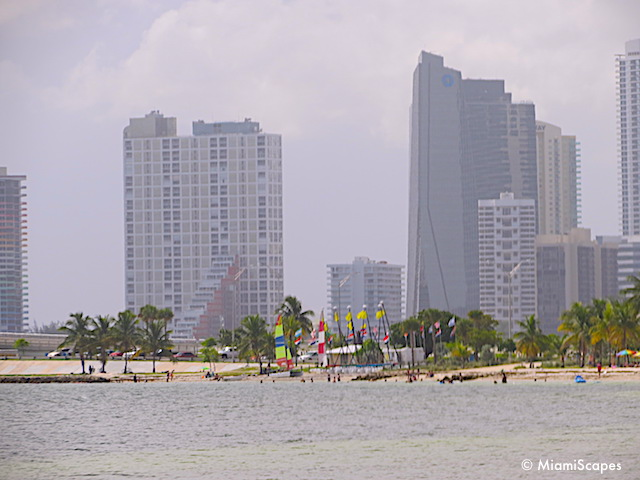 Windsurfers at Hobie Beach Key Biscayne Miami