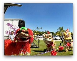 Lion Dances at Dragon Boat Festival in Miami