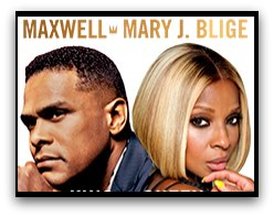 Maxwell and Mary J Blige in Miami