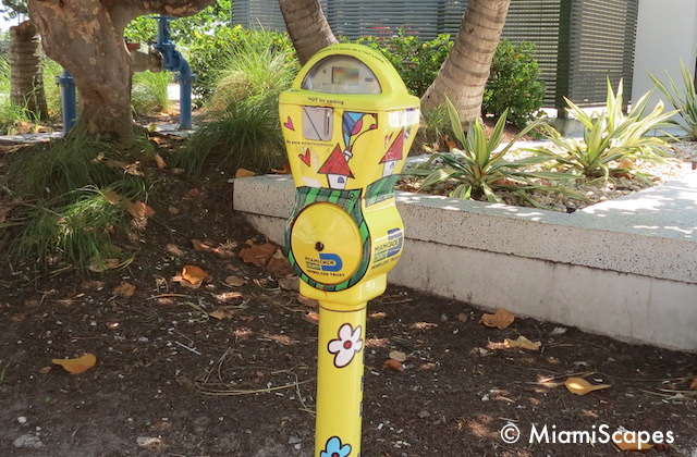 Miami Art Deco Tropical Parking Meters