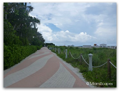 Miami Beach Paver Walkway between 29th and 30th Streets