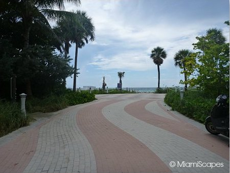 Miami Beach Paver Walkway between 64th and 79th Streets