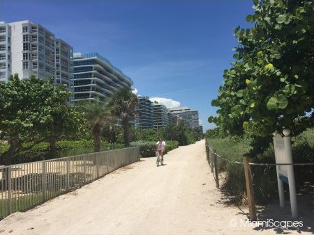 Miami Beach Walk Sandy Stretch between 87th and 96th Streets from Surfside to Bal Harbour