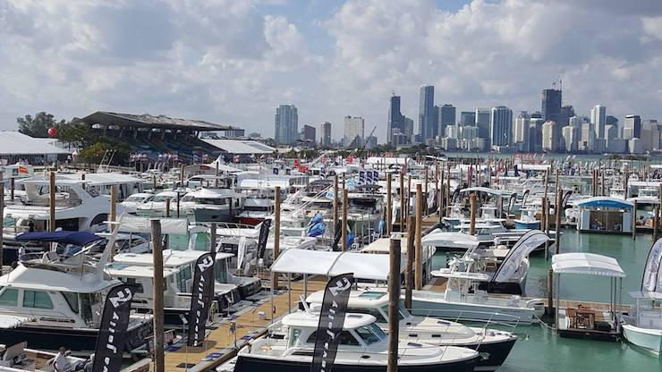 Miami Boat Show at Miami Marine Stadium
