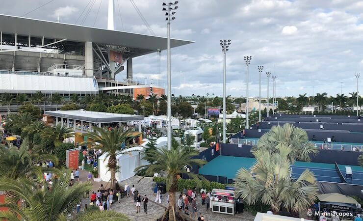The New Miami Open facilities at Hard Rock Stadium: Tenis Plaza Practice Courts