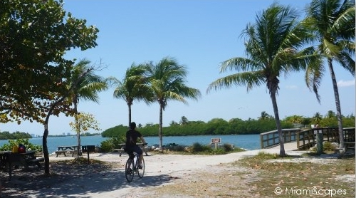 Oleta biking trails along the beach