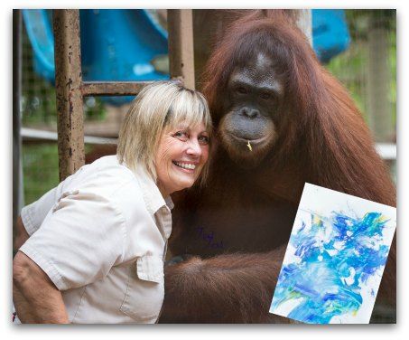 Orangutan Art For A Cause