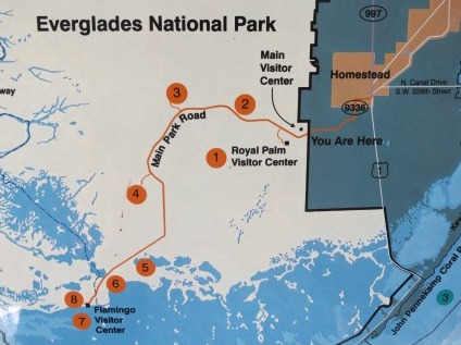 Everglades at Flamingo Map