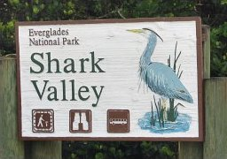 Shark Valley sign