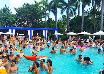 Spring Break pool parties at the Shore Club