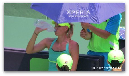 Entrance - Sony Open in Miami Maria Sharapova
