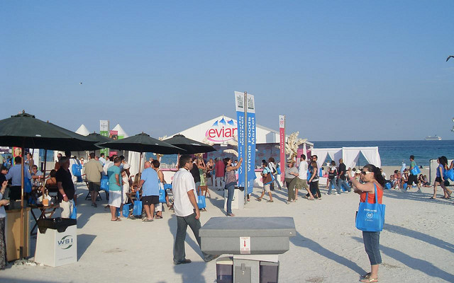 SoBe Food and Wine Fest tents at the beach