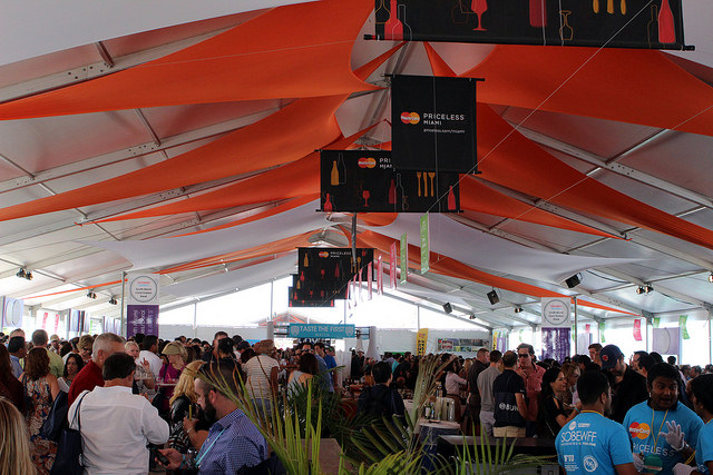 SoBe Food and Wine Fest Beachside Tents