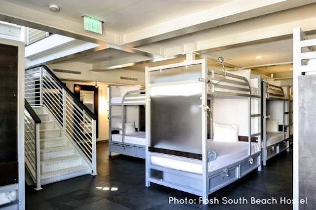 South Beach Hostels: Dormitory at Posh South Beach Hostel