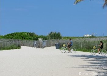 Biking in South Beach