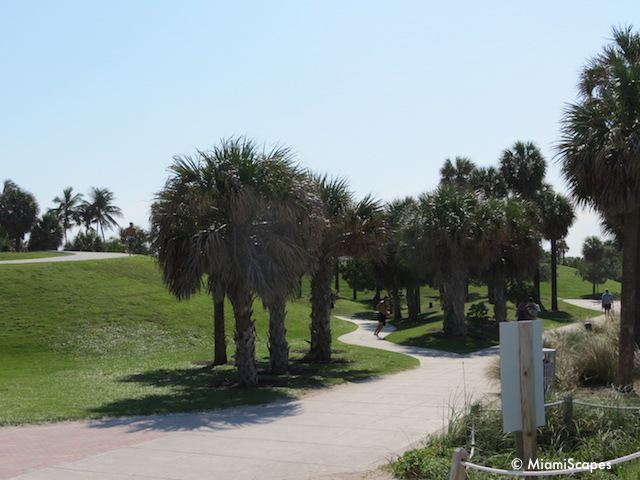 South Pointe Park walking paths and grounds