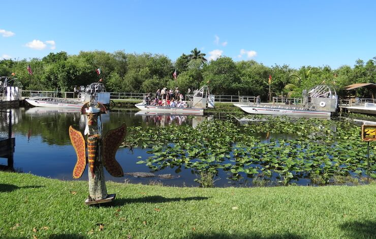 Everglades Airboat Rides in Autumn