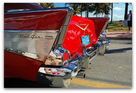 Ocean Drive and an iconic vintage car
