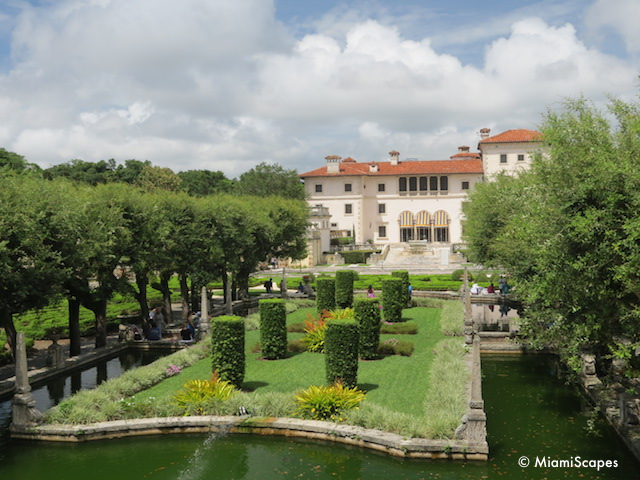 Vizcaya Gardens and South Facade