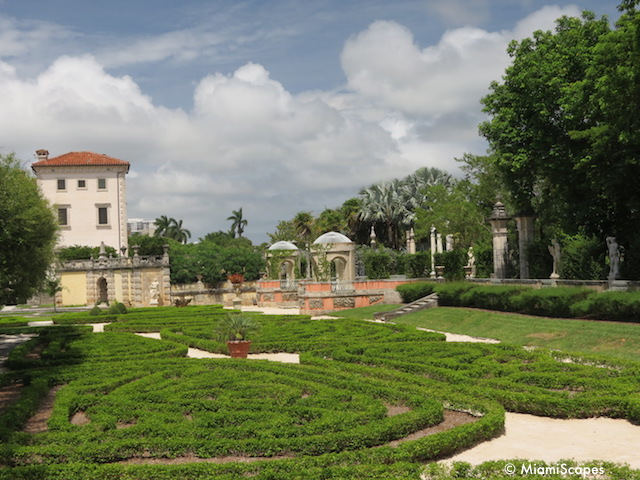 Vizcaya Gardens Clipped Hedges