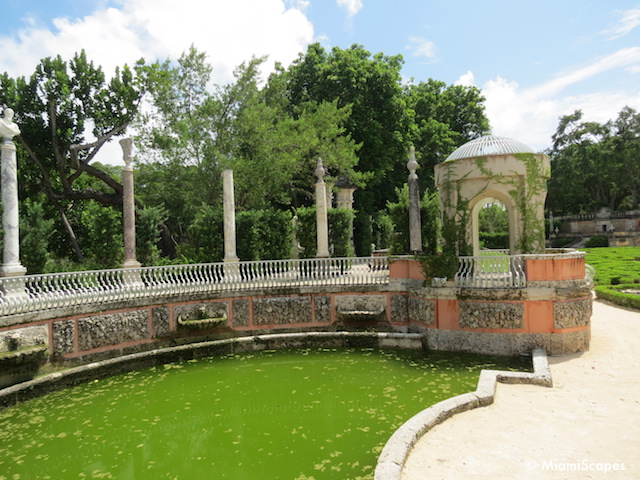 Semi-circular pools at Vizcaya