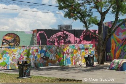 Splashy Murals at the Wynwood Art District